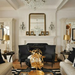 Design Ideas For Black And White Living Room Leather Chairs 15 Gold Decor L