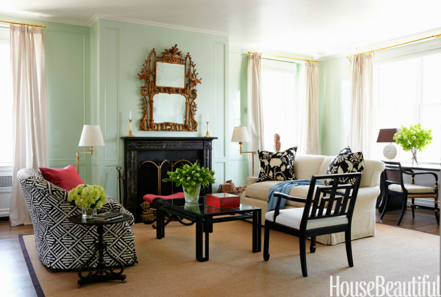 8 Attractive Green Living Rooms With Gorgeous Coffee And Side Tables
