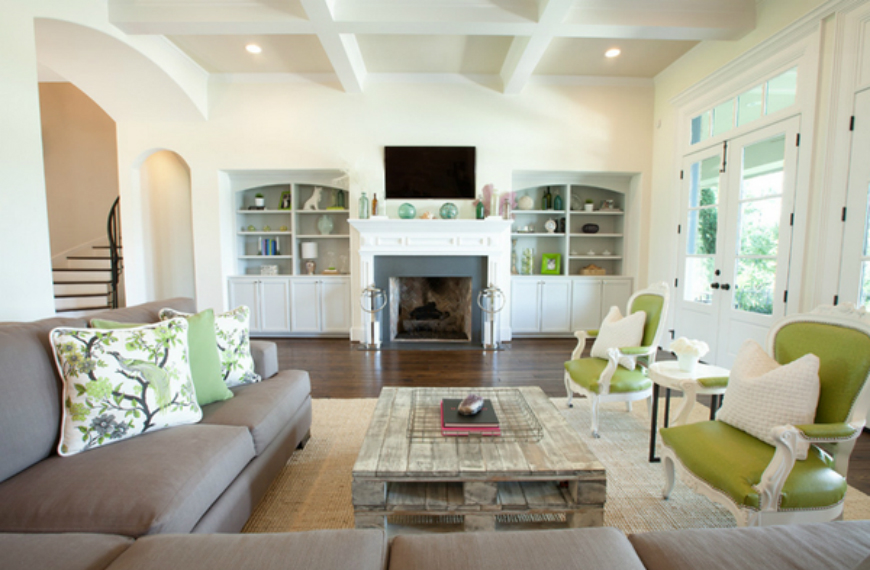 lime green living room decorations vertical blinds ideas 8 attractive rooms with gorgeous coffee and side tables