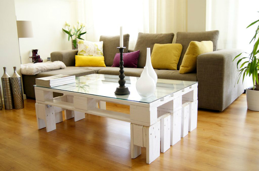 retro living room coffee table modern curtain ideas home decorating with vintage and side tables europalet blanco mesa