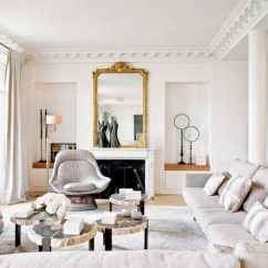Modern French Living Room Decor Ideas Leather Chair And Ottoman Effortless Chic Interiors With Style