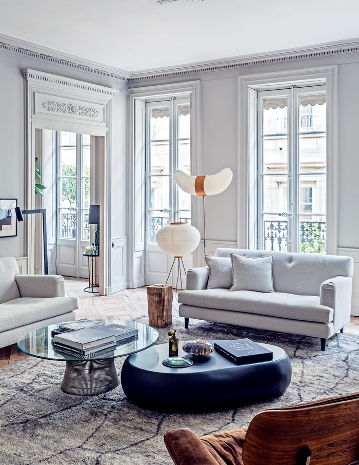 modern french living room decor ideas divider between and dining area effortless chic interiors with style