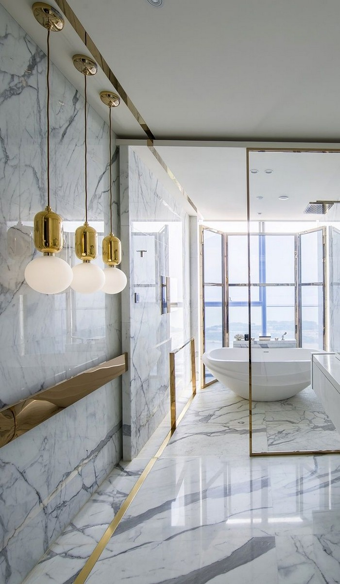 Sophisticated Ideas for a Modern Marble Bathroom Design