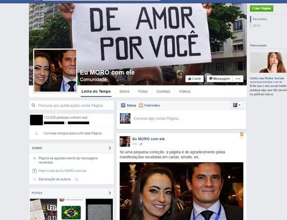 """Esposa de Moro cria comunidade """"Eu MORO com ele"""""""