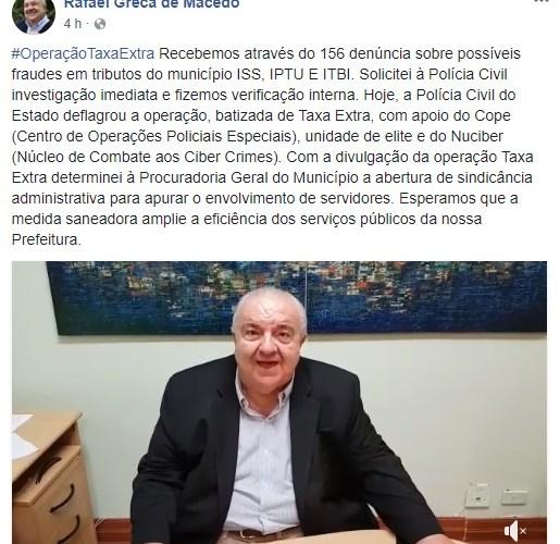 Greca determina ações para investigar casos de fraudes em tributos municipais