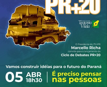 ITV-PR lança ciclo de debates PR+20