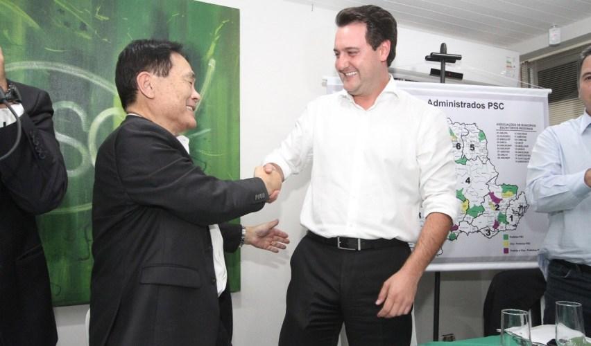 Takayama reitera apoio a Ratinho Junior