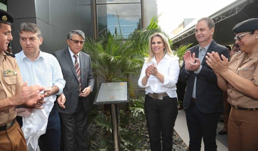 Cida inaugura nova sede do comando da PM em Maringá
