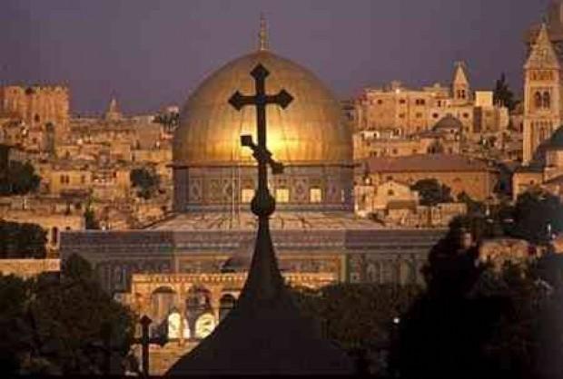La Moschea Musulmana a Gerusalemme, con la spianata del Tempio
