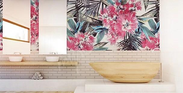 Carta da parati jungle per il bagno. Tendenza Carta Da Parati I Consigli Per L Estate 2019 Boccia Costruzioni Impresa Edile Parma