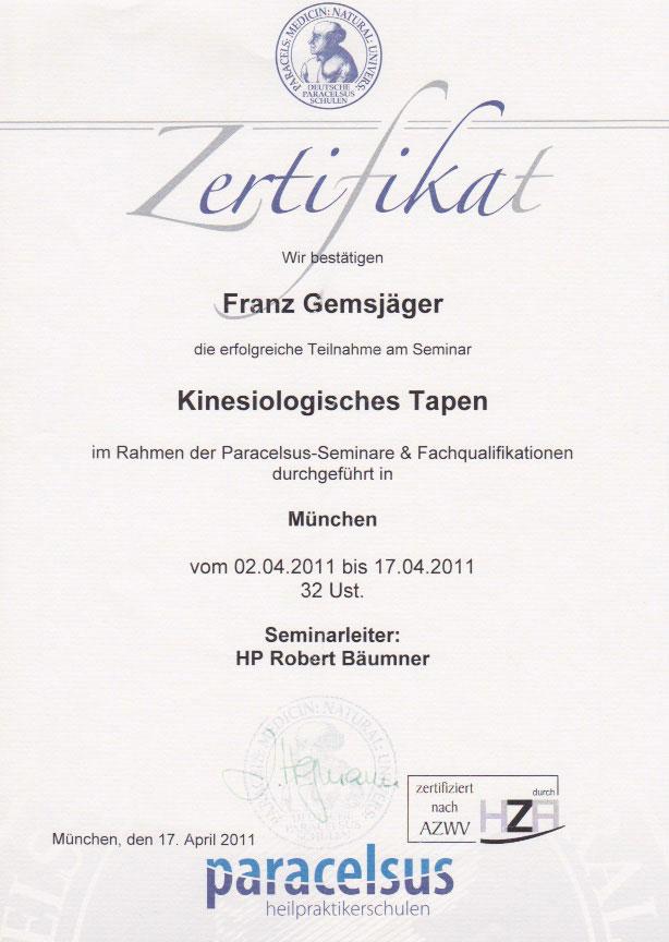 paracelsus - Zertifikat (17.04.2011)