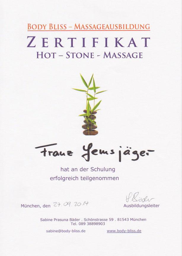 Body Bliss - Zertifikat (27.09.2014)