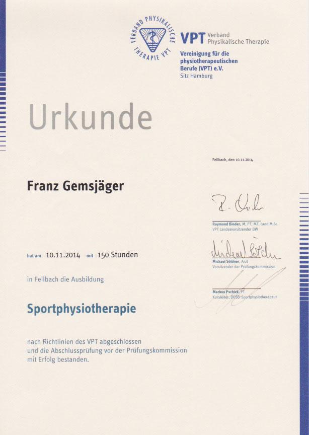 VPT - Zertifikat (10.11.2014)