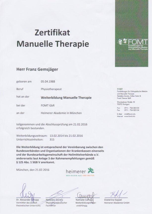FOMT - Zertifikat (21.02.2016)