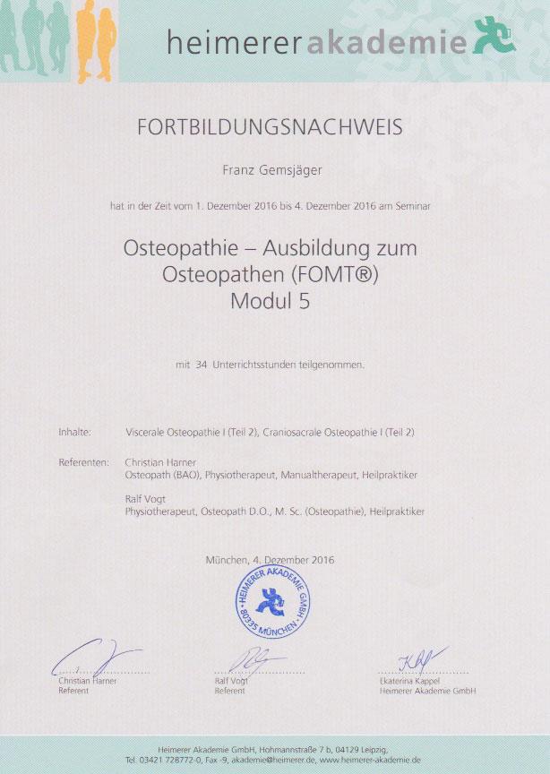 heimerer akademie - Zertifikat (04.12.2016)