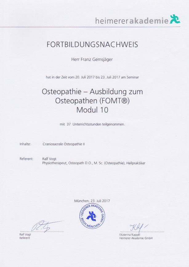 heimerer akademie - Zertifikat (23.07.2017)