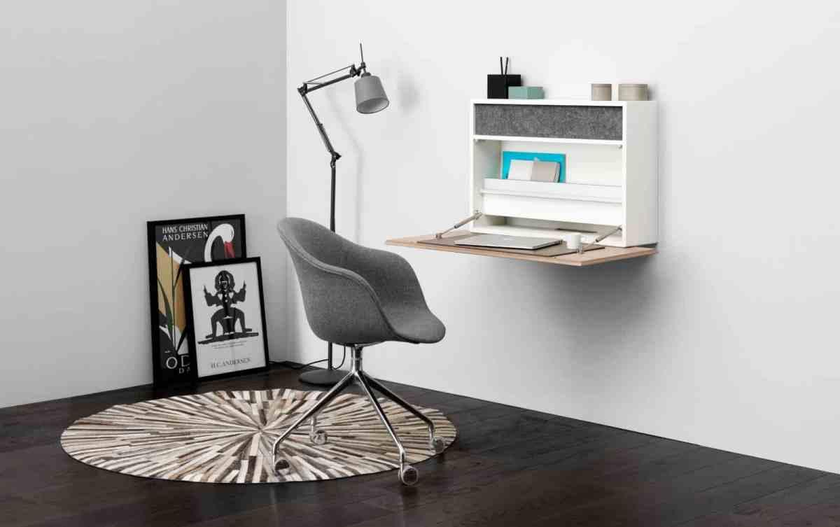 boconcept experience cupertino wall 2 - Cupertino Wall Office - Schreibtisch und Schrank in Einem