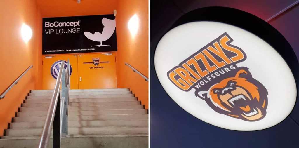 BoConcept Experience stellt die BoConcept VIP Lounge bei den Grizzlys Wolfsburg vor