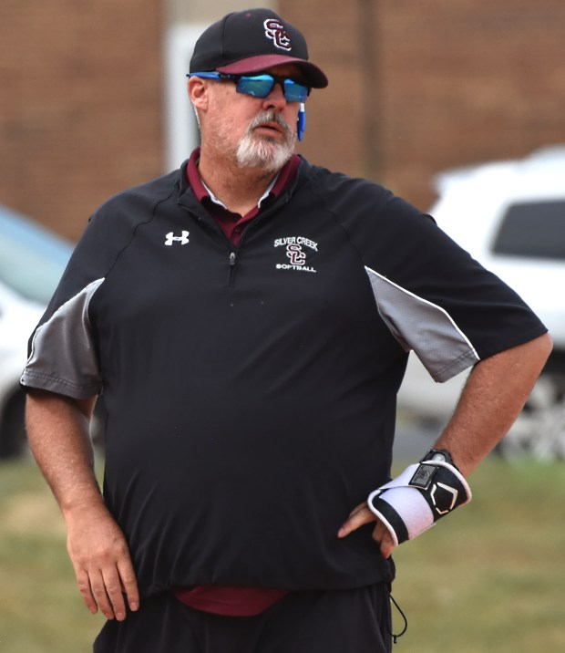 Silver Creek head softball coach Ryan ...