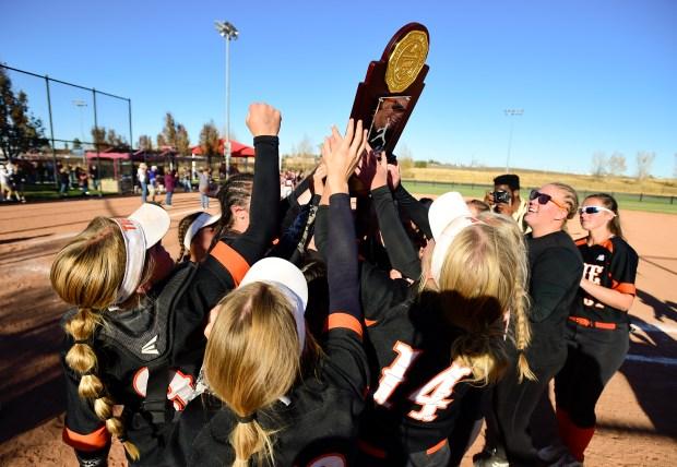 Erie High School celebrates the win ...