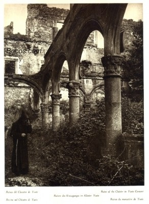 Ruinas del claustro del monasterio de Yuste