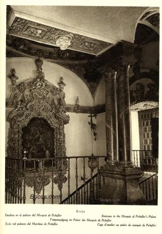 escalera del palacio del Marqés de Peñaflor de Écija