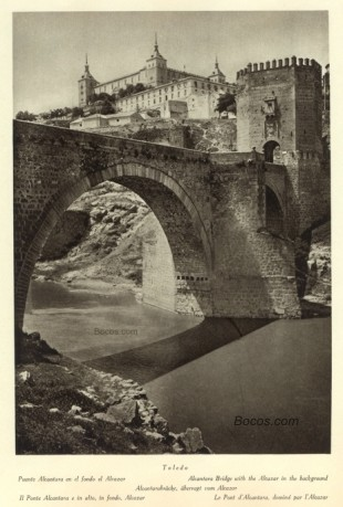 puente Alcántara en el fondo el Alcazar