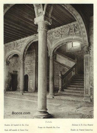 escalera del hospital de Santa Cruz