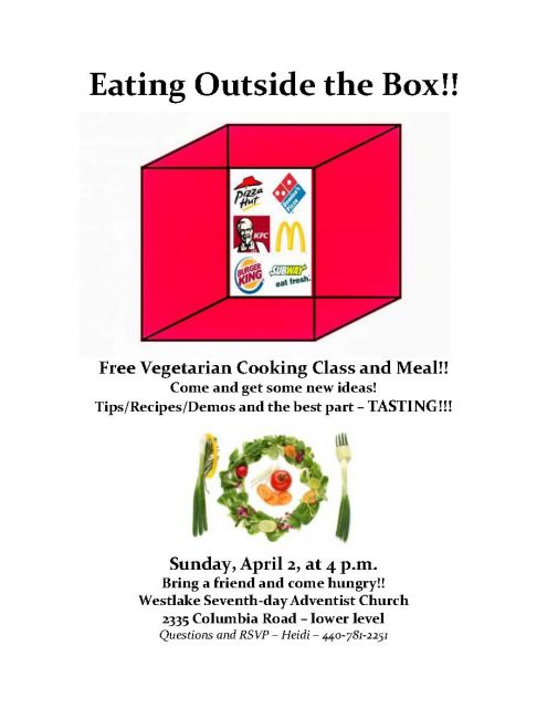 Free Vegetarian Cooking Class and Meal @ Westlake SDA church