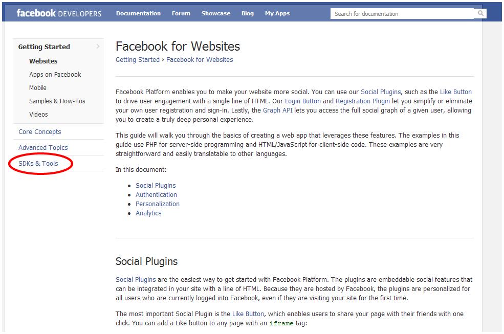 Facebook Developers Screen 2