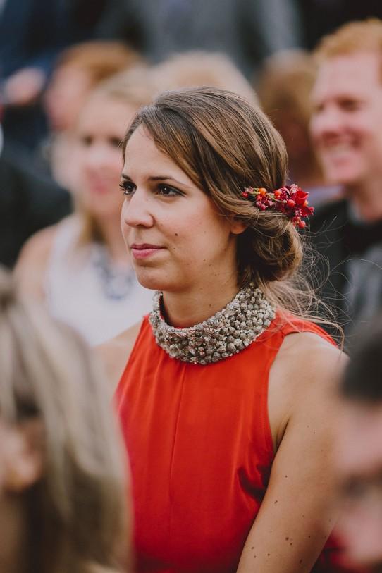 dama de honor emocionada www.bodasdecuento.com