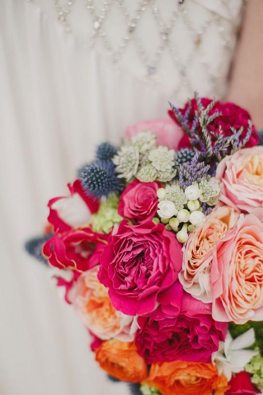 ramo-de-novia-rosa-austin www.bodasdecuento.com