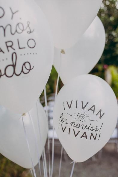 globos mister wonderful recepción invitados www.bodasdecuento.com
