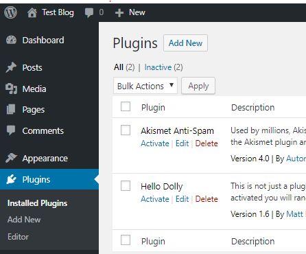 installing wordpress plugin