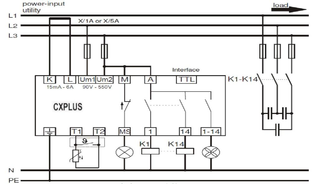 medium resolution of power factor control relay cxplus wiring diagram