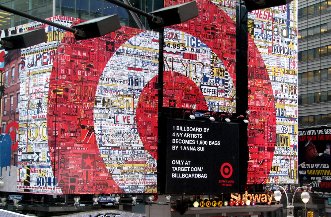 Josh Goldstein Target billboard in Times Square