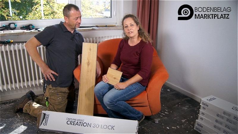 Kenny und Biggi verlegen Gerflor Creation 30 Lock Designboden - günstig kaufen auf bodenbelag.de