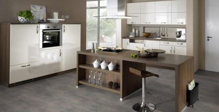 wineo 1000 Purline Bioboden Stone Click Manhattan Factory 5 x 859 x 397 mm in der Küche mit naturrealistischen Fliesendesigns