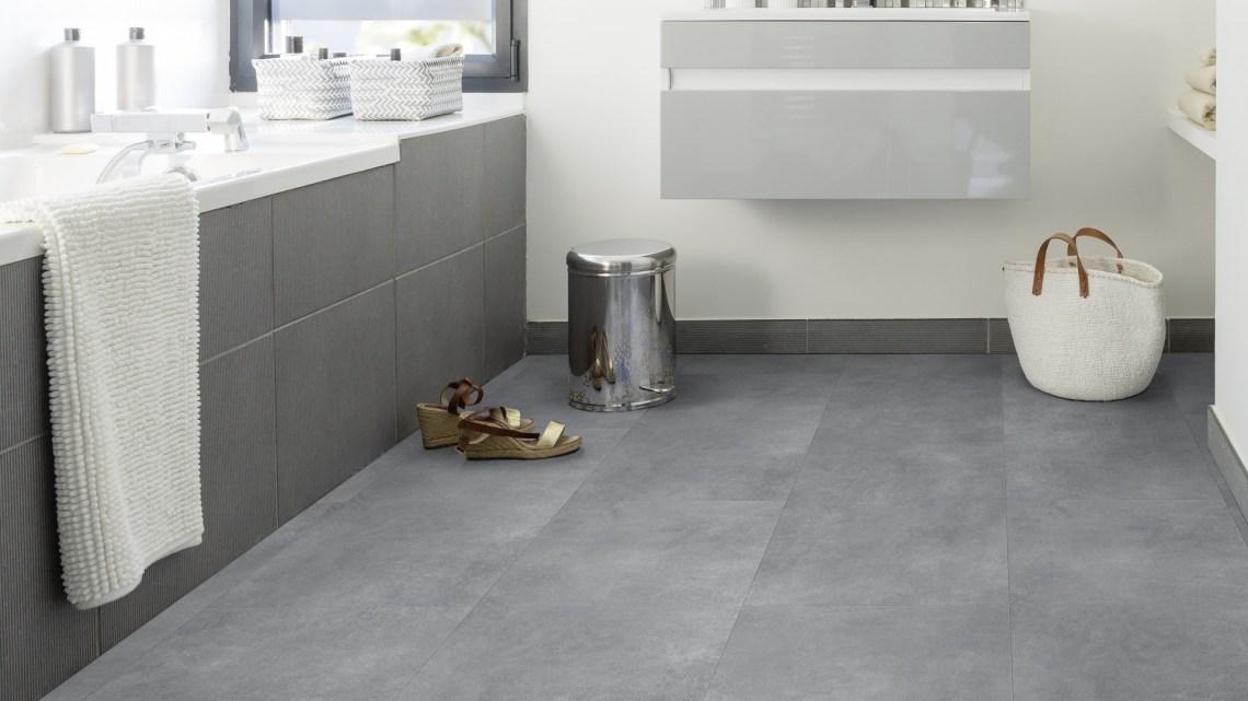 Gerflor Rigid Designboden Acoustic 55 Lock Design Geelong Grey - Betonoptik für Bad unf Küche