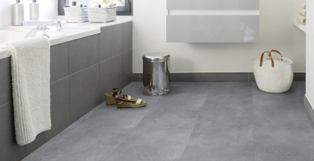 Gerflor Rigid Designboden Acoustic 55 Lock Design Geelong Grey - Betonoptik für Bad unf Küche