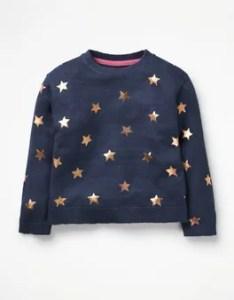 Foil star sweater boden also johnnie  girls kids rh bodenusa