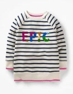 Sparkly sweatshirt boden also johnnie  girls kids rh bodenusa