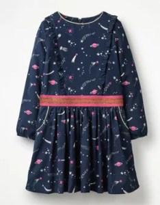Woven frill space dress boden also johnnie  girls kids rh bodenusa