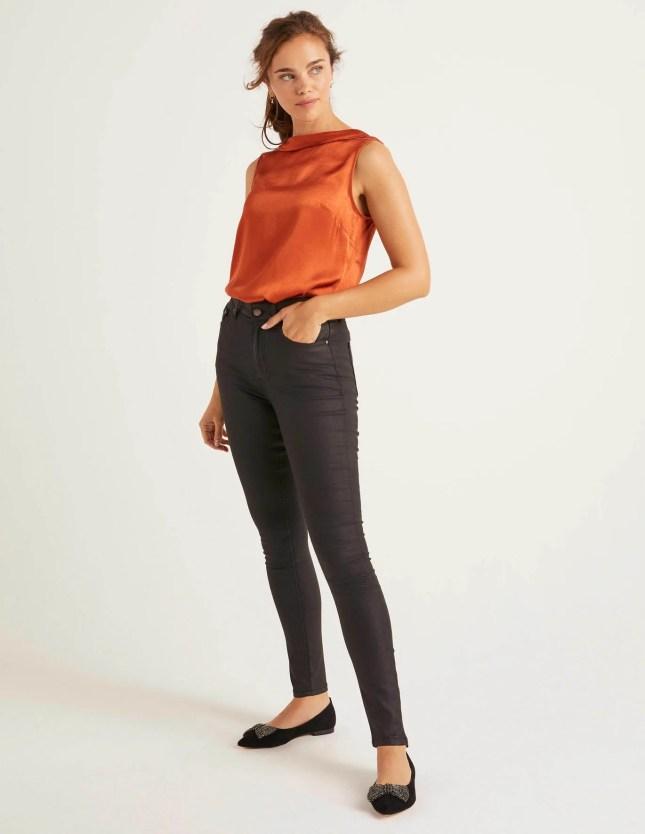 Super Skinny Jeans - Black Wax