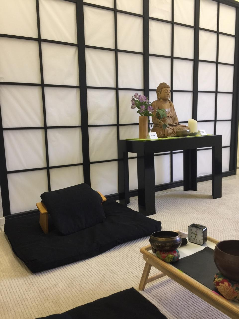 Zen area with Buddha statue