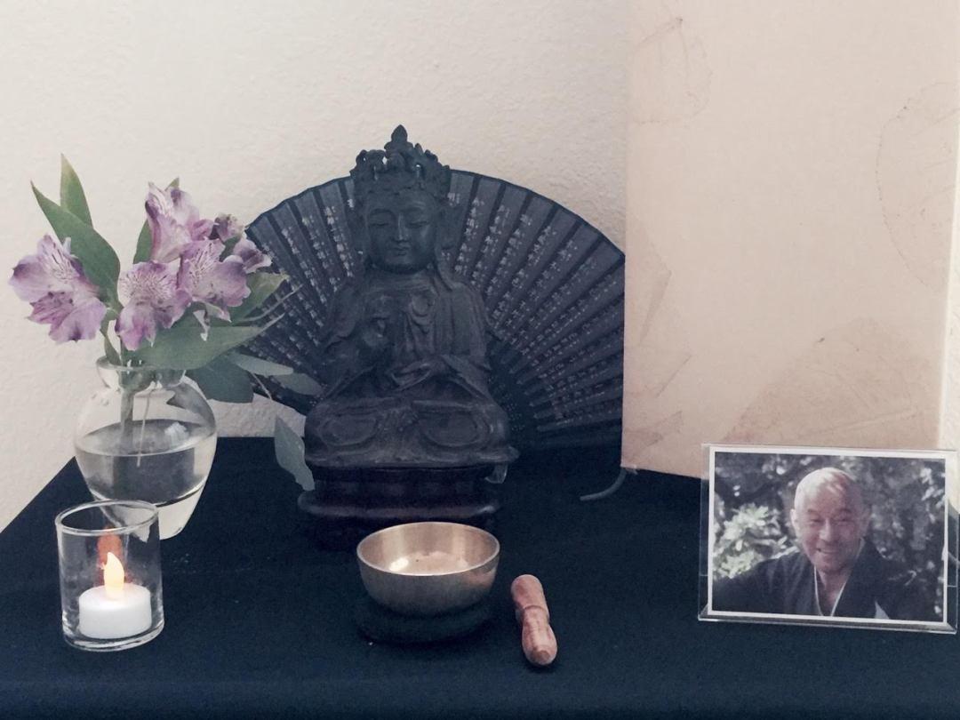 Center interior with Buddha statue