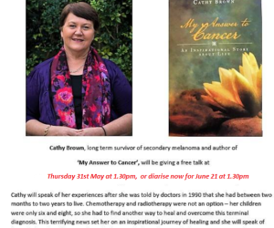 An afternoon with author Cathy Brown