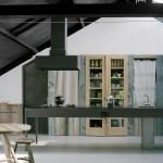 Kitchen with concrete floor