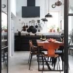 Black kitchen units