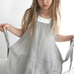 Gorgeous linen aprons for kids